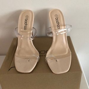 Shoes - Clear nude heels